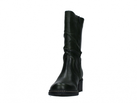 wolky mid calf boots 01261 edmonton 30730 forest green leather_8