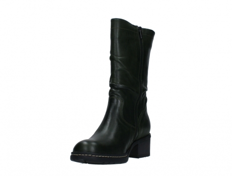 wolky mid calf boots 01261 edmonton 30730 forest green leather_9