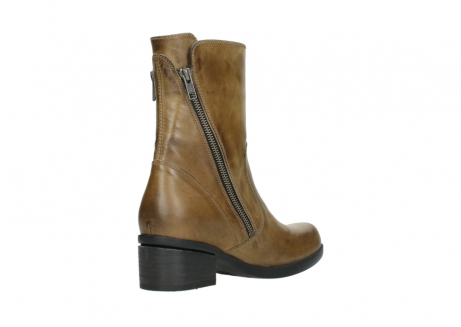 wolky mid calf boots 01376 rialto 30920 ocher yellow leather_10