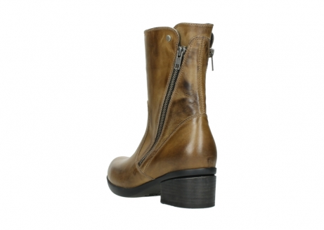 wolky mid calf boots 01376 rialto 30920 ocher yellow leather_5