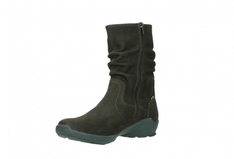wolky mid calf boots 01573 luna wp 11302 brown nubuck water proof warm lining_10