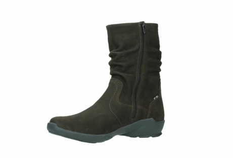 wolky mid calf boots 01573 luna wp 11302 brown nubuck water proof warm lining_11