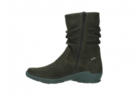 wolky mid calf boots 01573 luna wp 11302 brown nubuck water proof warm lining_13