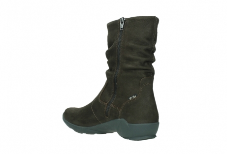 wolky mid calf boots 01573 luna wp 11302 brown nubuck water proof warm lining_16