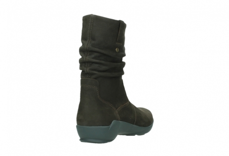wolky mid calf boots 01573 luna wp 11302 brown nubuck water proof warm lining_21