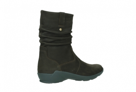 wolky mid calf boots 01573 luna wp 11302 brown nubuck water proof warm lining_23