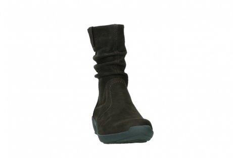 wolky mid calf boots 01573 luna wp 11302 brown nubuck water proof warm lining_6