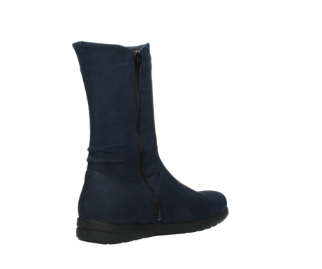 wolky mid calf boots 02425 newton wp 13800 blue nubuckleather_10