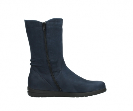 wolky mid calf boots 02425 newton wp 13800 blue nubuckleather_13