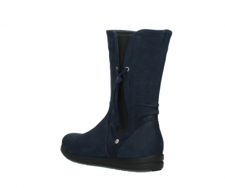 wolky mid calf boots 02425 newton wp 13800 blue nubuckleather_4