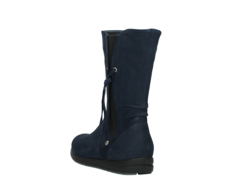 wolky mid calf boots 02425 newton wp 13800 blue nubuckleather_5