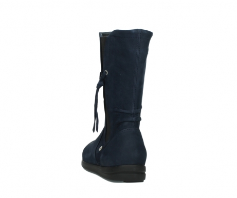 wolky mid calf boots 02425 newton wp 13800 blue nubuckleather_6