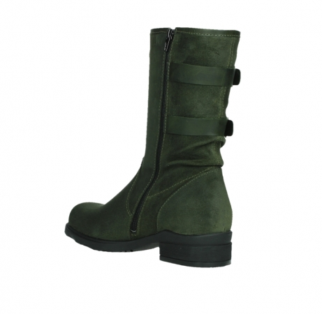 wolky mid calf boots 02626 willis 45730 forestgreen suede_16