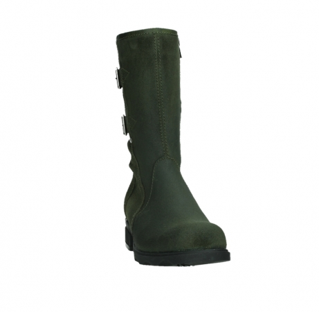 wolky mid calf boots 02626 willis 45730 forestgreen suede_6