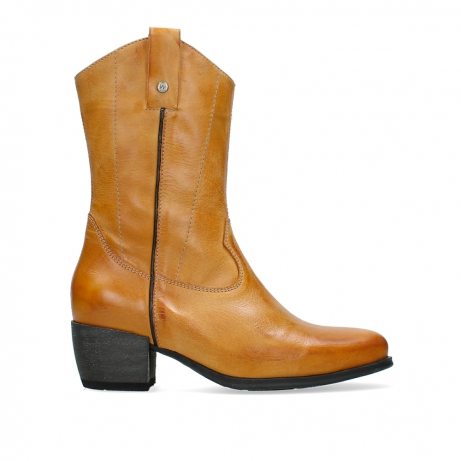 wolky mid calf boots 02876 caprock 30935 pumpkin orange leather
