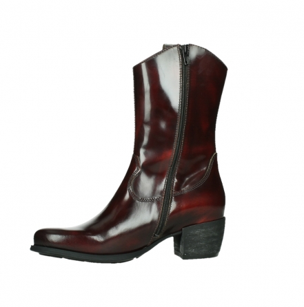 wolky mid calf boots 02876 caprock 63510 burgundy shiny leather_12