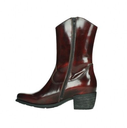 wolky mid calf boots 02876 caprock 63510 burgundy shiny leather_14