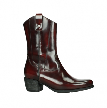 wolky mid calf boots 02876 caprock 63510 burgundy shiny leather_2