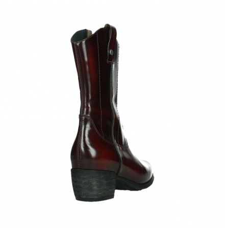 wolky mid calf boots 02876 caprock 63510 burgundy shiny leather_21