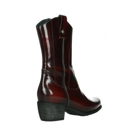 wolky mid calf boots 02876 caprock 63510 burgundy shiny leather_22