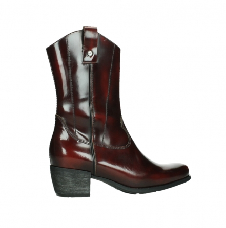 wolky mid calf boots 02876 caprock 63510 burgundy shiny leather_24