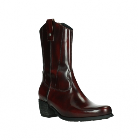 wolky mid calf boots 02876 caprock 63510 burgundy shiny leather_4