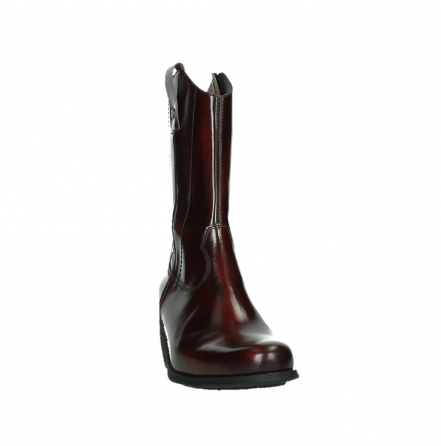 wolky mid calf boots 02876 caprock 63510 burgundy shiny leather_6