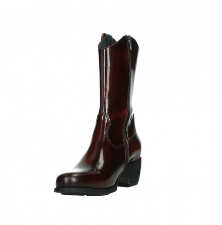 wolky mid calf boots 02876 caprock 63510 burgundy shiny leather_9