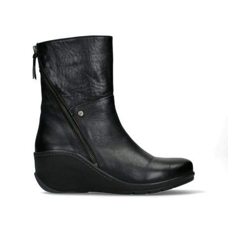 wolky mid calf boots 03876 newtok 30000 black leather
