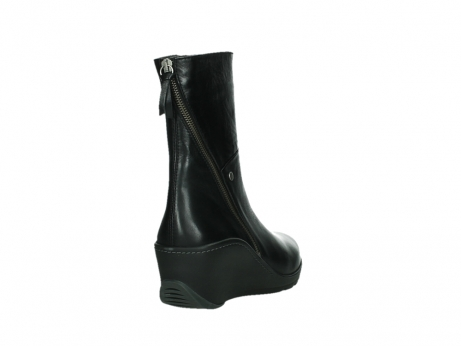 wolky mid calf boots 03876 newtok 30000 black leather_21