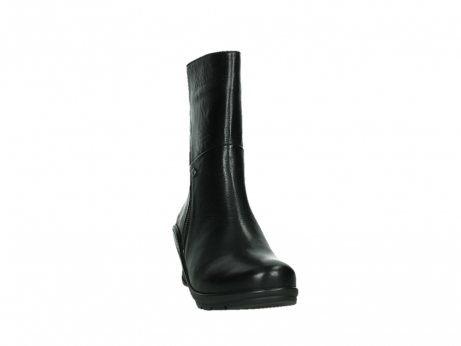wolky mid calf boots 03876 newtok 30000 black leather_6