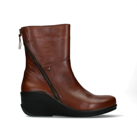wolky mid calf boots 03876 newtok 30430 cognac leather