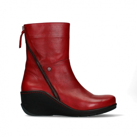 wolky mid calf boots 03876 newtok 30505 dark red leather