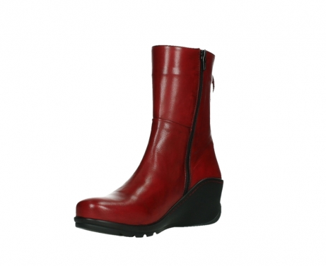 wolky mid calf boots 03876 newtok 30505 dark red leather_10