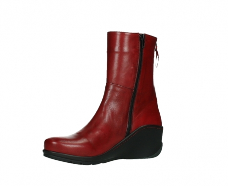 wolky mid calf boots 03876 newtok 30505 dark red leather_11