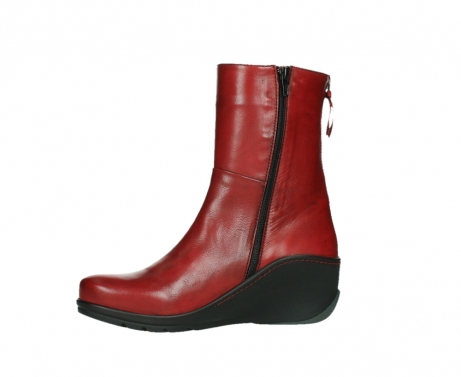 wolky mid calf boots 03876 newtok 30505 dark red leather_12