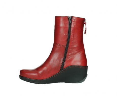 wolky mid calf boots 03876 newtok 30505 dark red leather_13