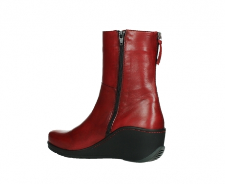 wolky mid calf boots 03876 newtok 30505 dark red leather_15