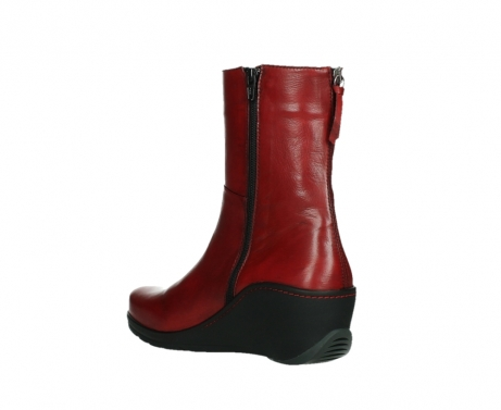 wolky mid calf boots 03876 newtok 30505 dark red leather_16