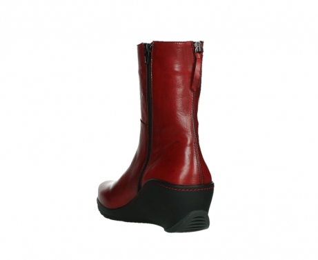 wolky mid calf boots 03876 newtok 30505 dark red leather_17