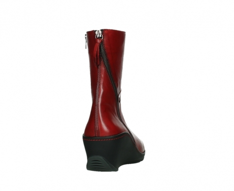 wolky mid calf boots 03876 newtok 30505 dark red leather_20