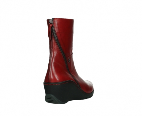 wolky mid calf boots 03876 newtok 30505 dark red leather_21