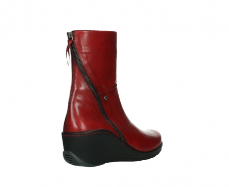 wolky mid calf boots 03876 newtok 30505 dark red leather_22