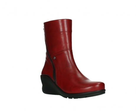 wolky mid calf boots 03876 newtok 30505 dark red leather_4