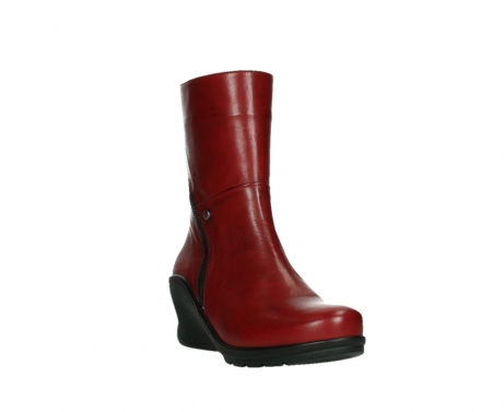 wolky mid calf boots 03876 newtok 30505 dark red leather_5