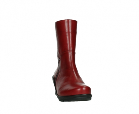 wolky mid calf boots 03876 newtok 30505 dark red leather_6