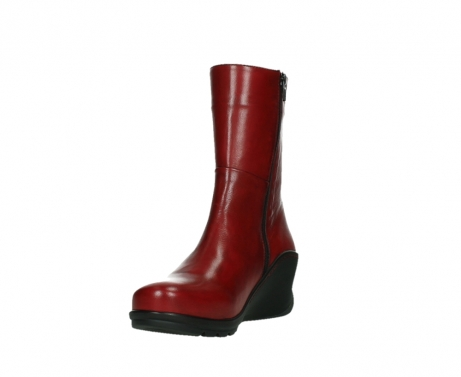 wolky mid calf boots 03876 newtok 30505 dark red leather_9