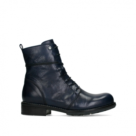 wolky mid calf boots 04432 murray 20800 blue leather