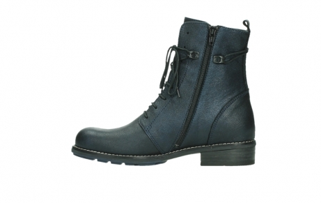 wolky mid calf boots 04432 murray 25800 metallic blue leather_13
