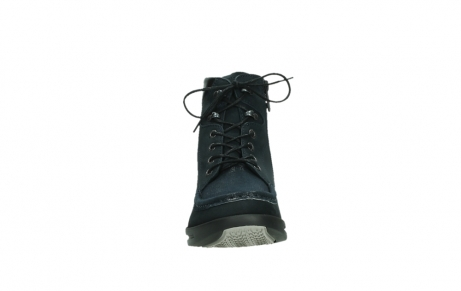 wolky lace up boots 05904 four 10875 blue winter stretch nubuck_7